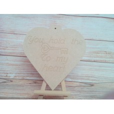6mm Thick MDF Heart you hold the  key